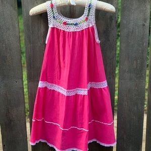 Girls Hand Crocheted Sun Dress